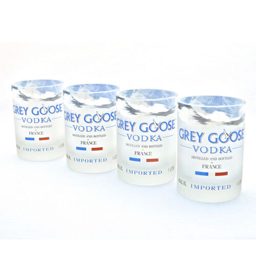 Grey Goose Vodka Bottle Rocks Glasses - Set of Four